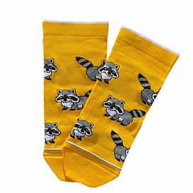 """Короткие носки из высококачественного хлопка с оригинальным принтом """"Єноти"""""""