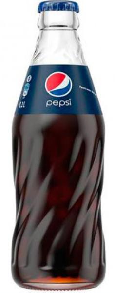 Pepsi-Cola, 0.3 л, Пепсі-Кола, Класична, Вода солодка (скло)
