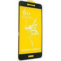 Стекло 6D Huawei P 8 Lite 2017 черное- защитное, premium