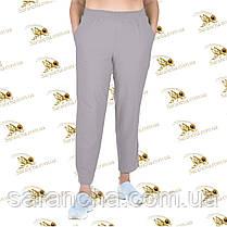 Літні брюки-лосини стрейч-котон колір серпанок розміри від 48 до 54