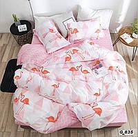 """Постельное белье """"Фламинго"""" полуторный размер бязь"""