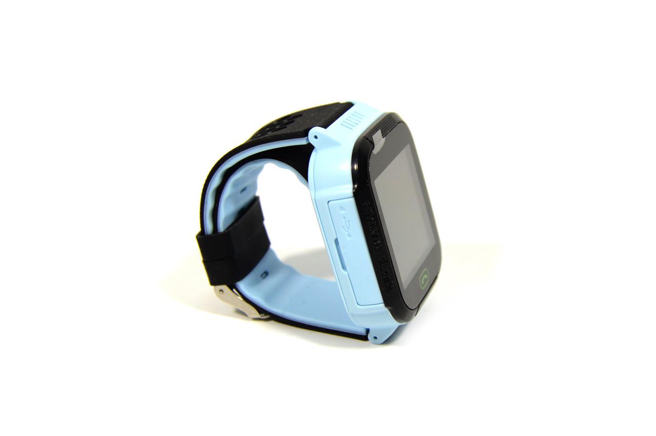 Дитячий годинник-телефон з камерою, кнопкою sos (Smart Watch F1) синій
