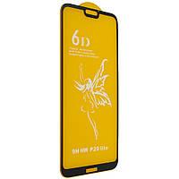 Стекло 6D Huawei P 20 Lite черное- защитное, premium
