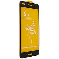 Стекло 6D Huawei Y 6 Pro черное- защитное, premium
