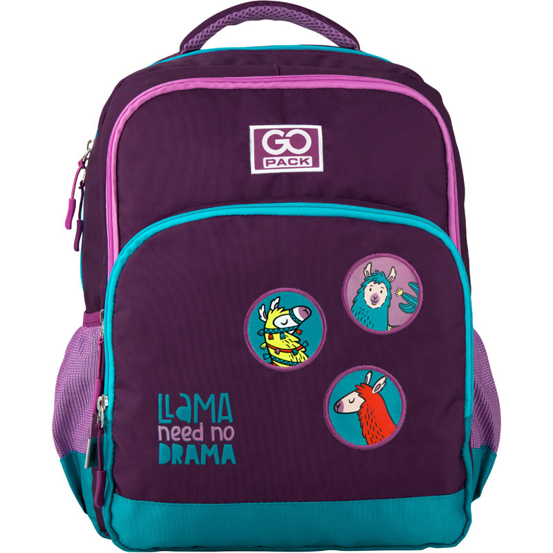 Рюкзак школьный для девочки GoPack Lama фиолетовый 113M-4
