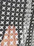 Фатиновый тюль с вышивкой на высоту 2.56 м. дальше пустое поле на метраж и опт, фото 4