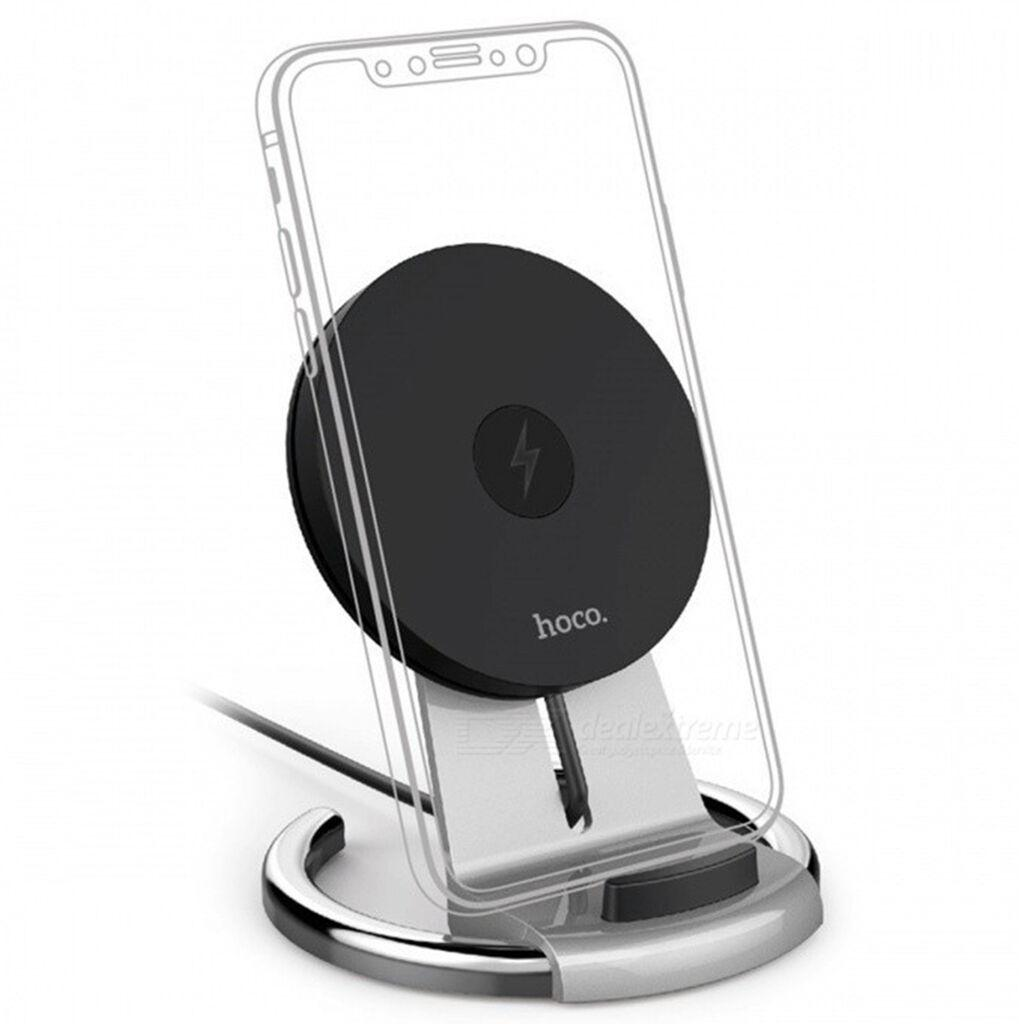 Док-станція HOCO CW5A Unhindered Desktop Stand 5W Silver