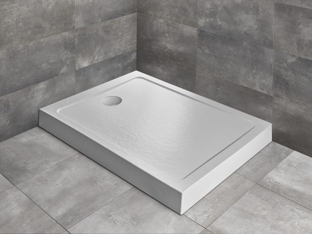 Душовий піддон прямокутний Radaway Doros F Compact Stone White білий 🇵🇱