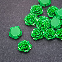 Кабошон Роза зеленая акрил d-18мм фас. шт.