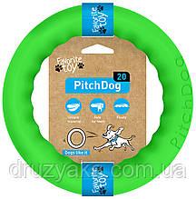 PitchDog (ПітчДог) - кільце іграшка для собак, Ø20 см зелений