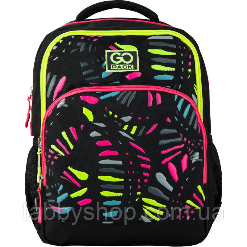 Рюкзак школьный для девочки GoPack Bright day черный 113M-3