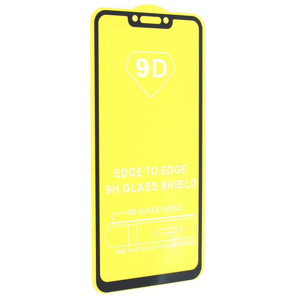Стекло 6D Huawei Nova 3 черное- защитное, premium