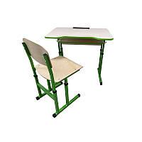 Комплект стол парта +стул ученический 1-местный антисколиозный  регулируемый по высоте №4-6 БЛО-ПСО