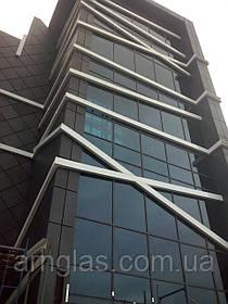 Фасадне скління Алюмінієве фасадне скління, вітрини будівель