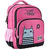 Рюкзак шкільний для дівчинки GoPack рожевий з котиком 113M-1, фото 6