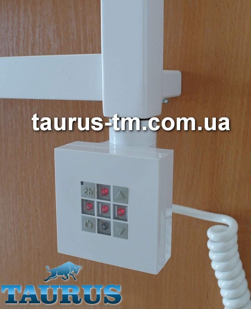Квадратный белый электроТЭН KTX2 с управлением + таймер 2 ч. в полотенцесушилки. Польша. Мощность: 120W-1000W