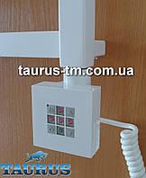 Квадратный белый электроТЭН KTX2 с управлением + таймер в полотенцесушилки (Польша). Мощность от 120Вт.
