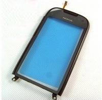 Оригинальный тачскрин / сенсор (сенсорное стекло) с рамкой для Nokia Lumia 701 (черный цвет)