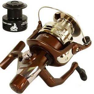 Котушка для вудки, спінінга рибальська Cobra New 6000 3В безінерційна