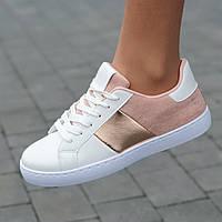 Женские кроссовки белые модные  ( код 9155 ) - жіночі кросівки білі модні