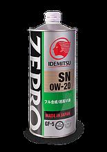 Моторне масло IDEMITSU ZEPRO ECO MEDALIST SN/GF-5 0W-20, 1л.