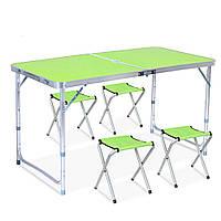 Набор стол и 4 стула складной туристический для отдыха на природе