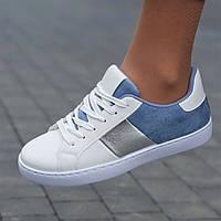 Женские кроссовки белые модные  ( код 9156 ), фото 1