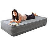 Надувная кровать Велюр Intex 191х99х33см, встроенный электронасос, Односпальная 67766, фото 3