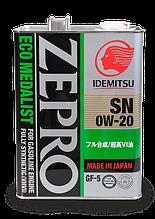 Моторне масло IDEMITSU ZEPRO ECO MEDALIST SN/GF-5 0W-20, 4л.