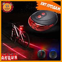 Фонарик велосипедный фонарь задний BL118 BIKE LIGHT+LASER