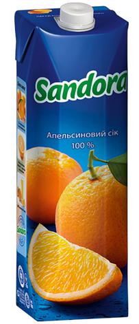 Sandora, Апельсиновий, 0,95 л, Сандора, Сік натуральний, фото 2