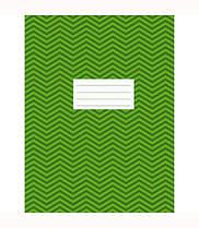 """Книга офисная A4 на скобе 96 листов клетка """"Зигзаг"""",зеленая 4А696К-022"""