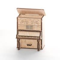 """Развивающий деревянный конструктор 3D пазл """"Пианино-2"""" (оригинальная сборная объемная модель из дерева)"""