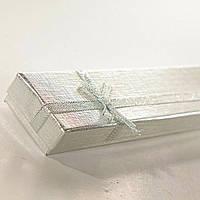 [21/4,5/2 см] Подарочная коробочка 7-9 для цепочки, браслета Серебро длинная 12 шт.