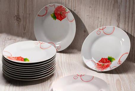 """Тарелка обеденная круглая с цветами 20,5 см """"Пион"""" (4366), фото 2"""