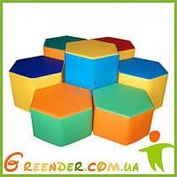 Детская игровая мягкая комната Шестигранник