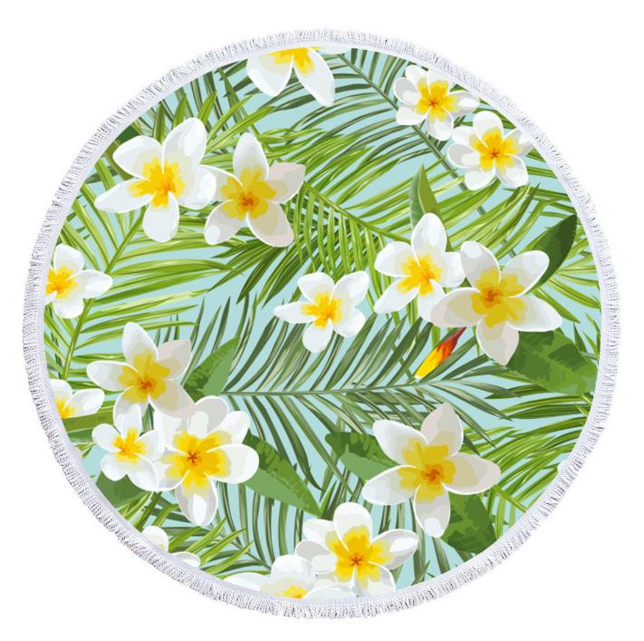 Пляжный коврик из микрофибры Тропический цветок