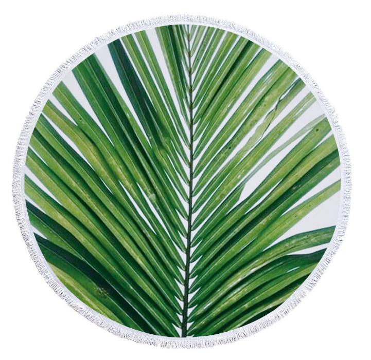 Пляжный коврик из микрофибры Пальмовый лист