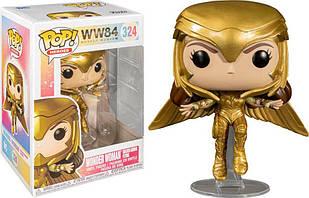 Фигурка Funko Pop Фанко ПопЧудо-женщина 1984Wonder Woman1984 Wonder Woman Gold Flying10 см WW 84 324