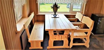 Деревянная мебель для бани из массива дерева