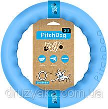 PitchDog (ПітчДог) - кільце іграшка для собак, Ø28 см блакитний