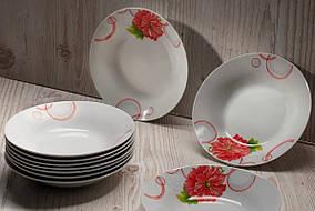 """Тарелка глубокая суповая с цветами 8""""  """"Пион"""" (4365)"""