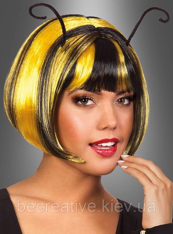 Пчелиный карнавальный  парик черно-желтый
