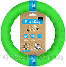PitchDog (ПітчДог) - кільце іграшка для собак, Ø28 см зелений
