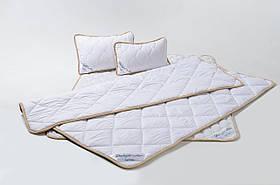 Комплект постельного белья из шерсти мериносов GoodnightStore Семейный 240х200 см + Подушка