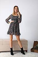 Легке плаття з шифону в квіточку. Літо 2020. Туреччина. 40, 42, 44 Продаж оптом і в роздріб, фото 1
