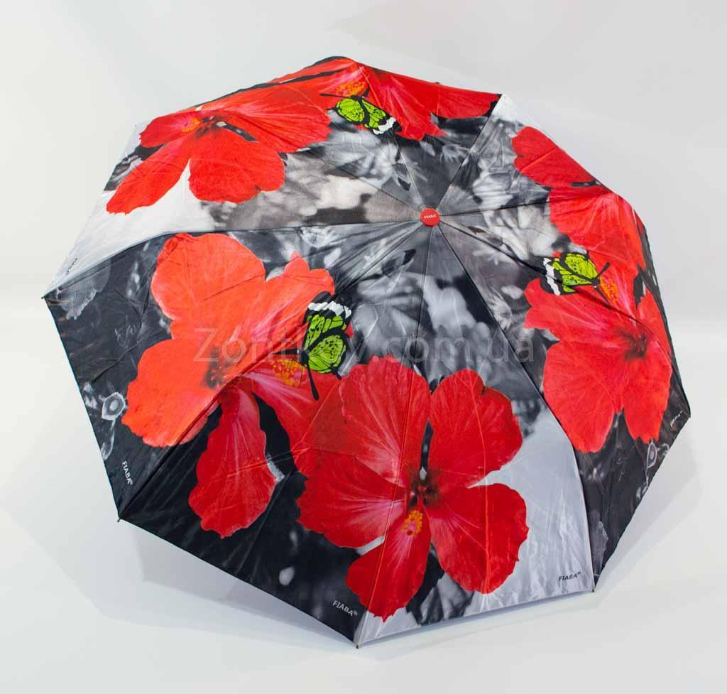 """Складной женский зонтик полуавтомат с двойной тканью от фирмы """"Fiaba"""""""