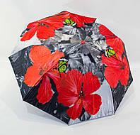 """Складной женский зонтик полуавтомат с двойной тканью от фирмы """"Fiaba"""", фото 1"""