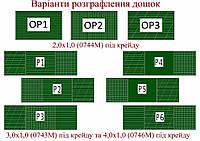 Графление досок школьных зеленых магнитных
