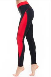 Женские лосины для стрейчинга (40,42,44,46,48,50,52) леггинсы для фитнеса и йоги из бифлекса КРАСНЫЕ